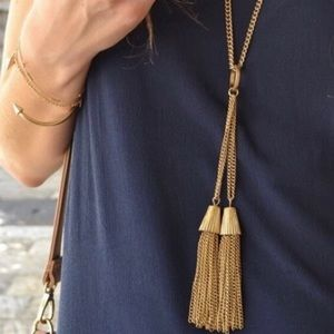 J. Crew Tassel Necklace